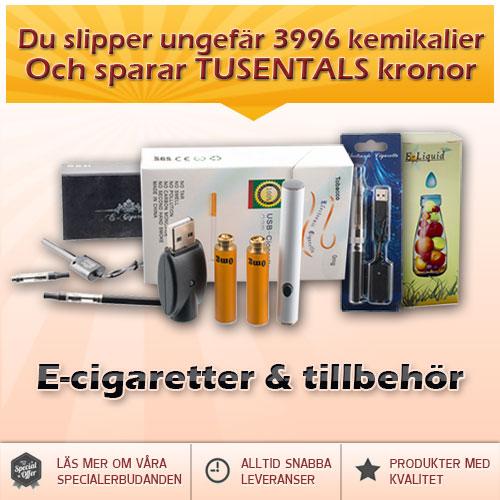 E-cigaretter och tillbehör